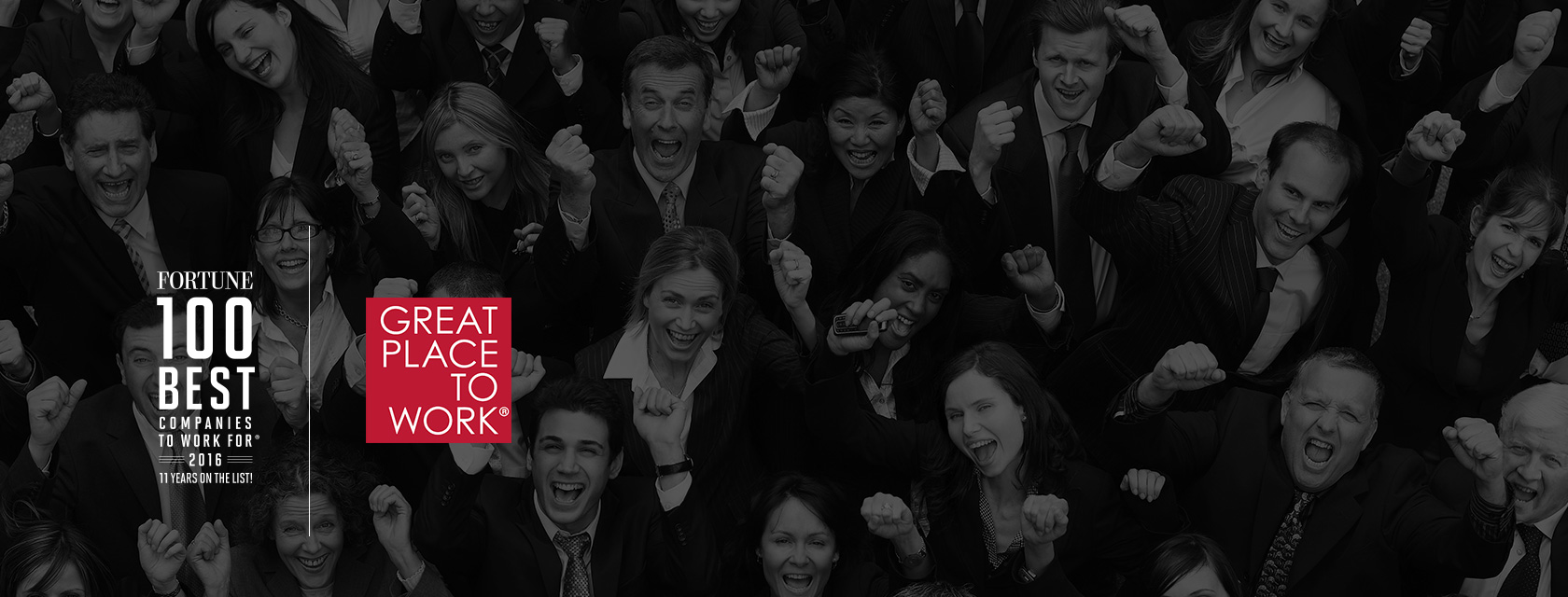 We're one of Fortune Magazine's 100 best places to work